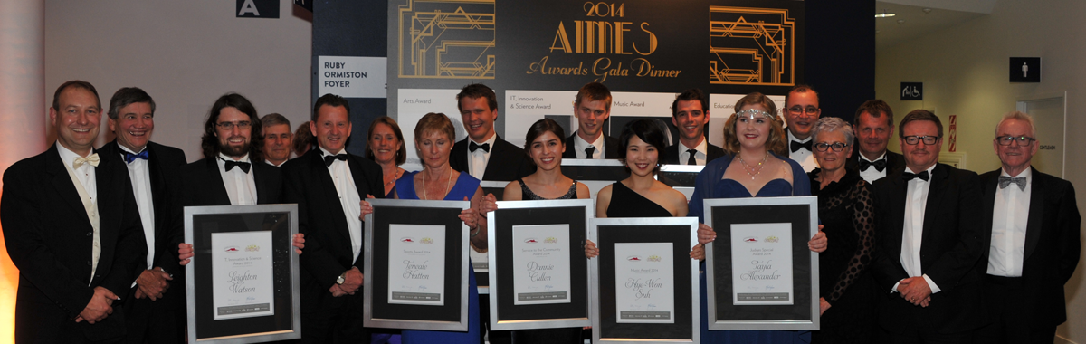 All the 2014 AIMES Award Winners with the North Harbour Club trustees.